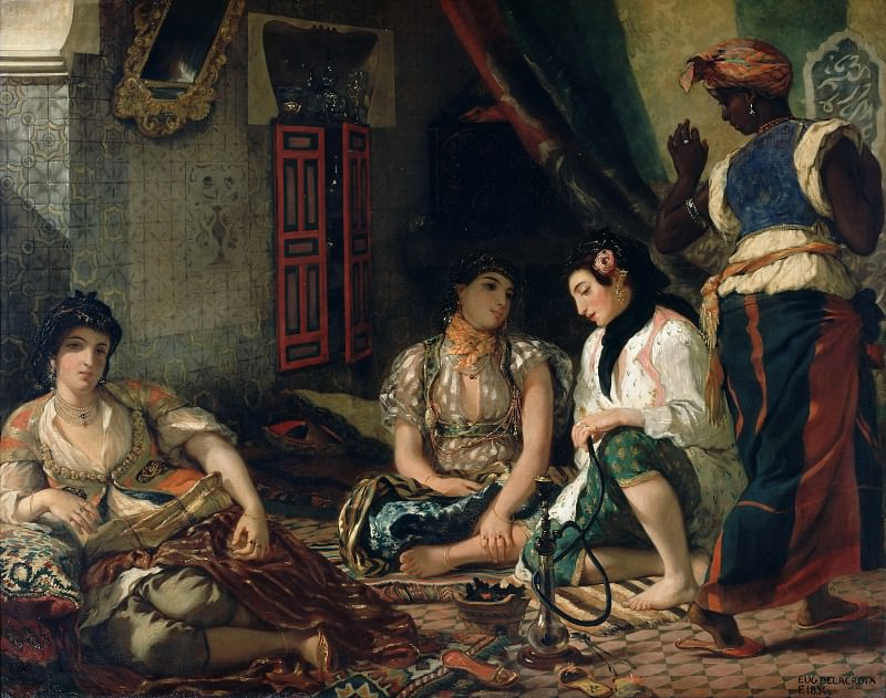 Eugène Delacroix -- Algerian women in their apartment. Part 1 Louvre