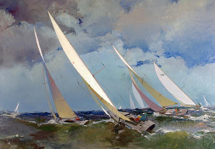 «Выставка одной картины» Эдуарда Калныньша (1904-1988) «Круто к ветру» (1962)