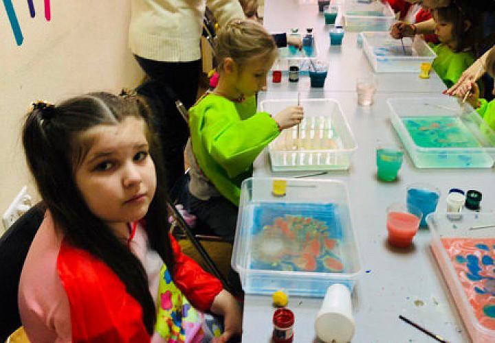 Мастер-класс «Рисуем на воде. Техника эбру» от 5-ти лет