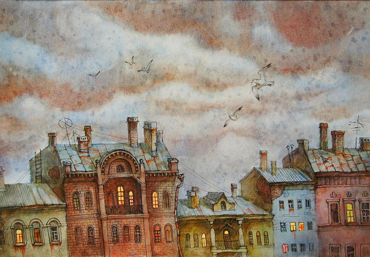 Анастасия Денисова «Нарисованный город» 0+