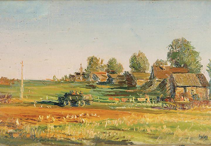 Выставка одной картины Серафимы Васильевны Рянгиной «Новая дорога»