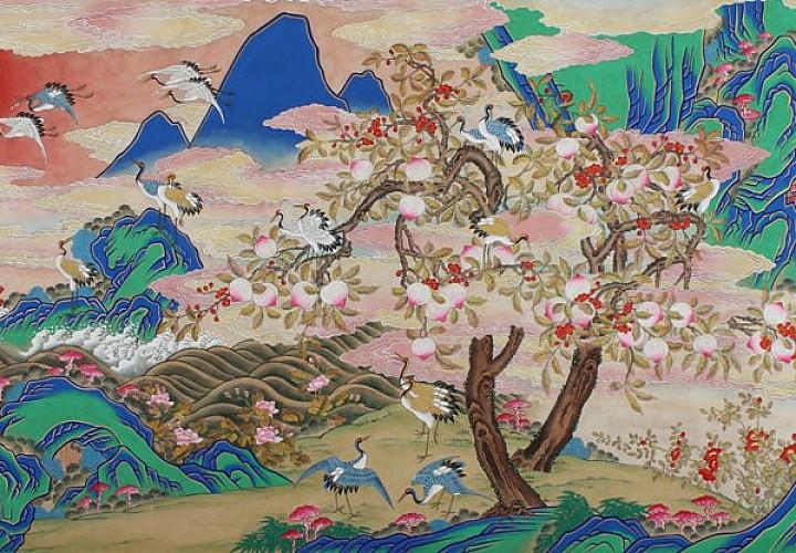 «Живопись минхва. Утопия корейского народа» Выставка произведений Со Гон Им (Республика Корея)
