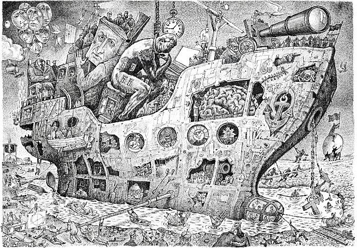 «Это мы!». Выставка произведений Игоря Смирнова. Графика, карикатура