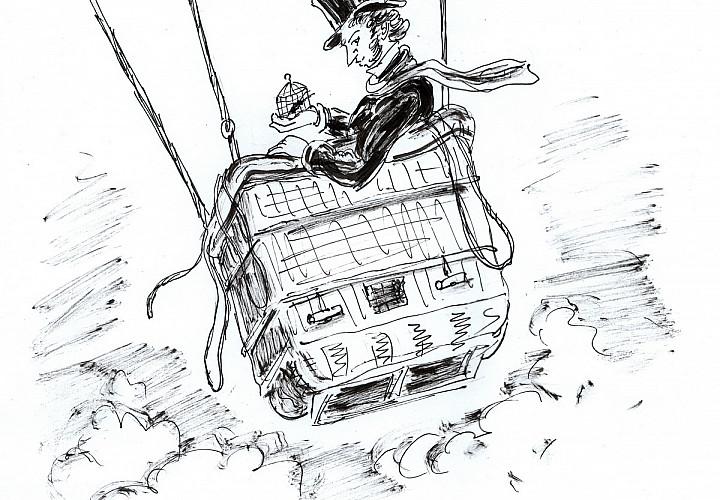 Леонид Тишков «Как Пушкин в Болдине бывал. История в картинках (в двух частях)»
