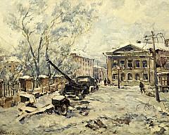 Выставка одной картины Дмитрия Михайловича Тархова «Калуга. Площадь Ленина. Январь 1942 года» (1943)