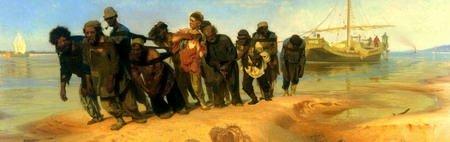 Бурлаки на Волге - картина художника Ильи Репина