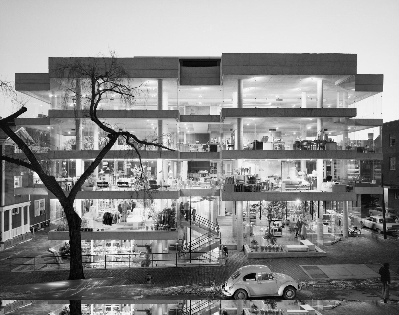 Эзра Столлер. Магазин «Дизайн Рисёрч». Арх.: Бенджамин Томпсон. Кембридж, шт. Массачусетс, 1970