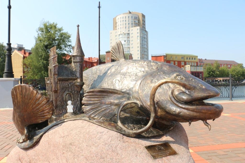 В Калининграде установили памятник Прегольскому сому