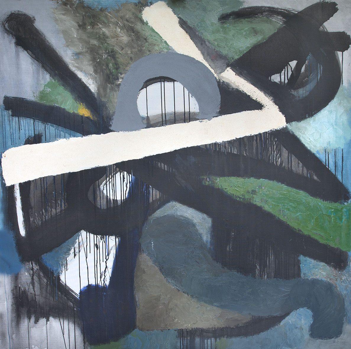 Наталья Ситникова. Этюд II, 2012. Холст,темпера,масло, 160х160 Courtesy of the East Meets West Gallery