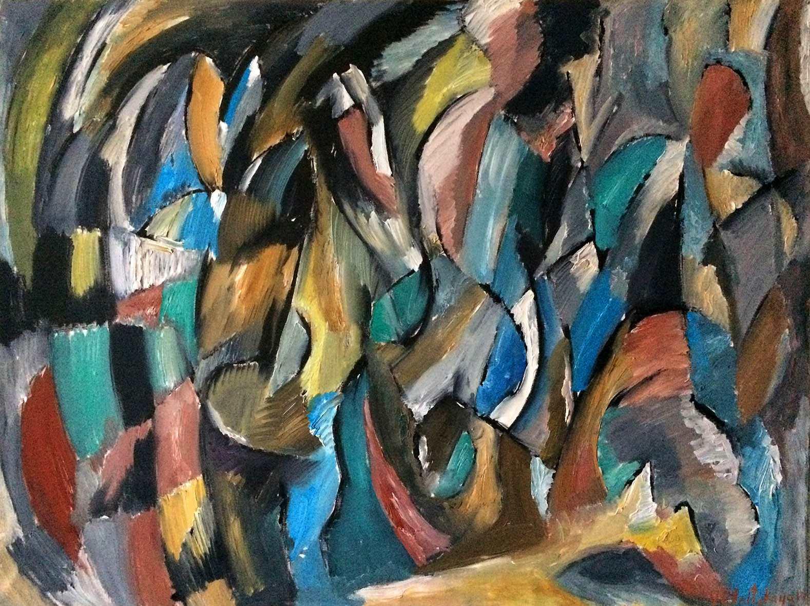 Вера Ельницкая. Джаз, 2017. Холст, масло, 90х120 Courtesy of the East Meets West Gallery