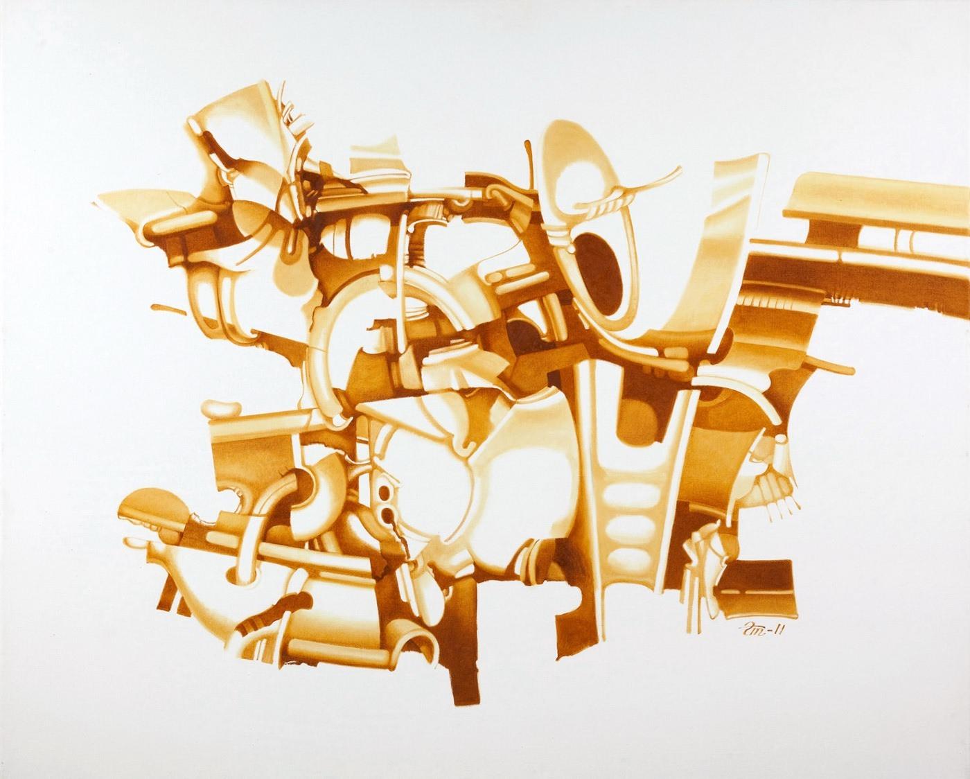Геннадий Трошков. Импровизация, 2011. Холст, масло, 120x160 Courtesy of the East Meets West Gallery
