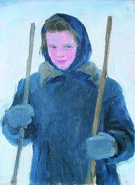 "Exhibition of one picture ""Gagarin Alexander Gavrilovich (1908 - 1980)"" Girl "". Study. 1955"""