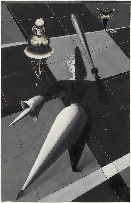 О. Шлеммер. Фигуры в пространстве, ок. 1924