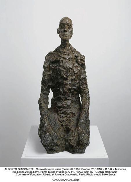 Альберто Джакометти. Бюст сидящего человека (Лотарь III). К 1965. Бронза, Суссе Литье, отливка 1968 года. Фонд Louis Vuitton, Париж