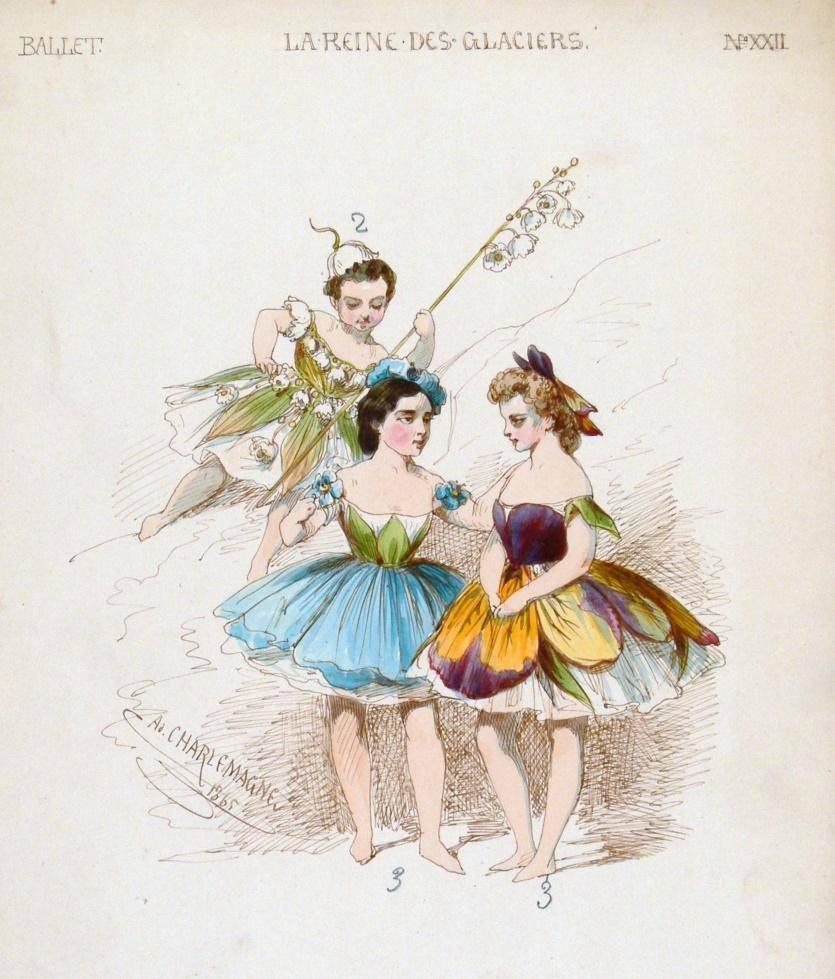 А.И. Шарлемань. Эскиз женского костюма для балета М.И. Петипа «Королева льдов»