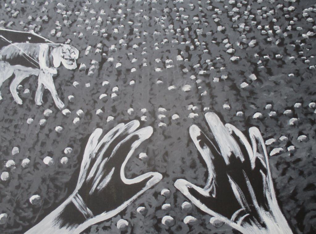 Время и пространство слепого. 2018 Холст, масло. 98х70 см