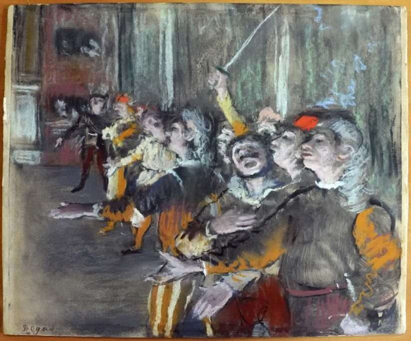 A picture of Degas stolen in 2009, found in a bus near Paris