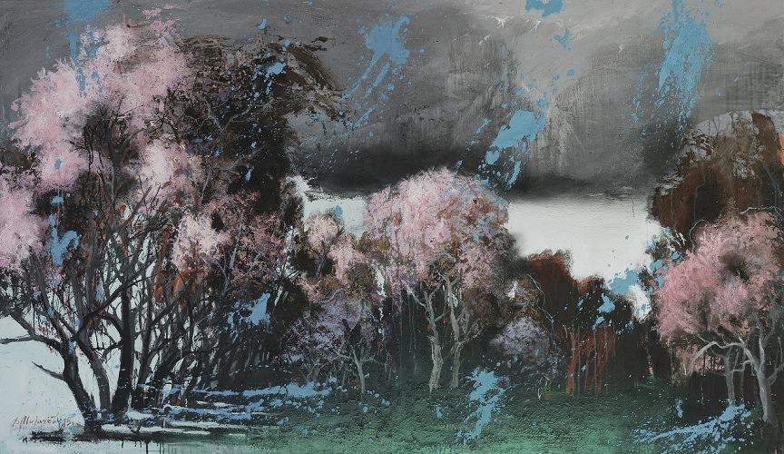 В. Мигачев. Весна. 2015. Холст, см.техника. 150х260