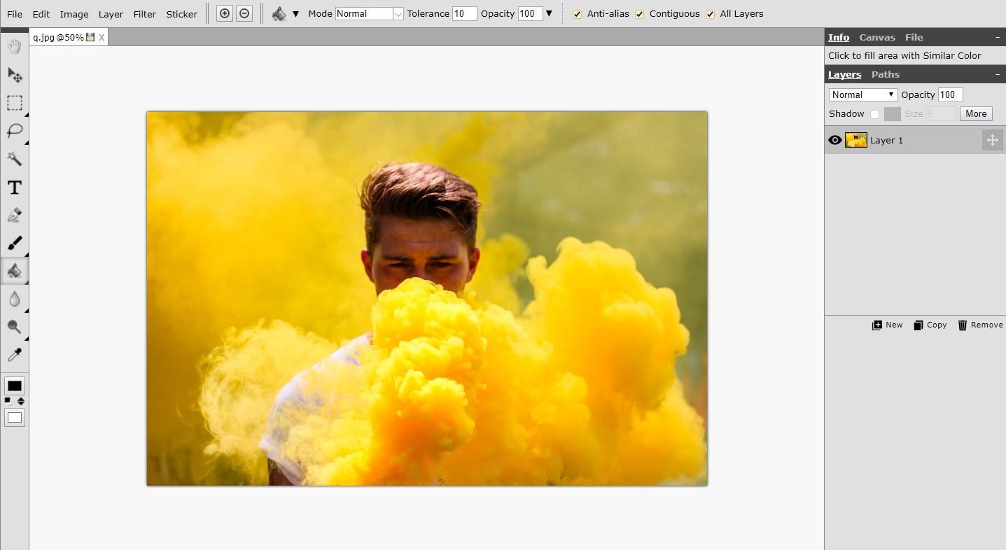 Интерфейс онлайн-редактора Piconion