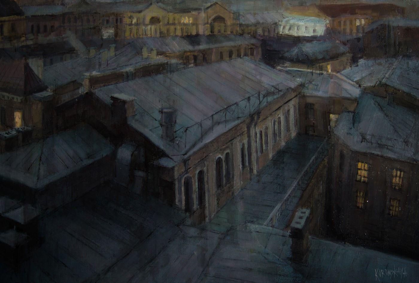 Крыши набережной реки Мойки