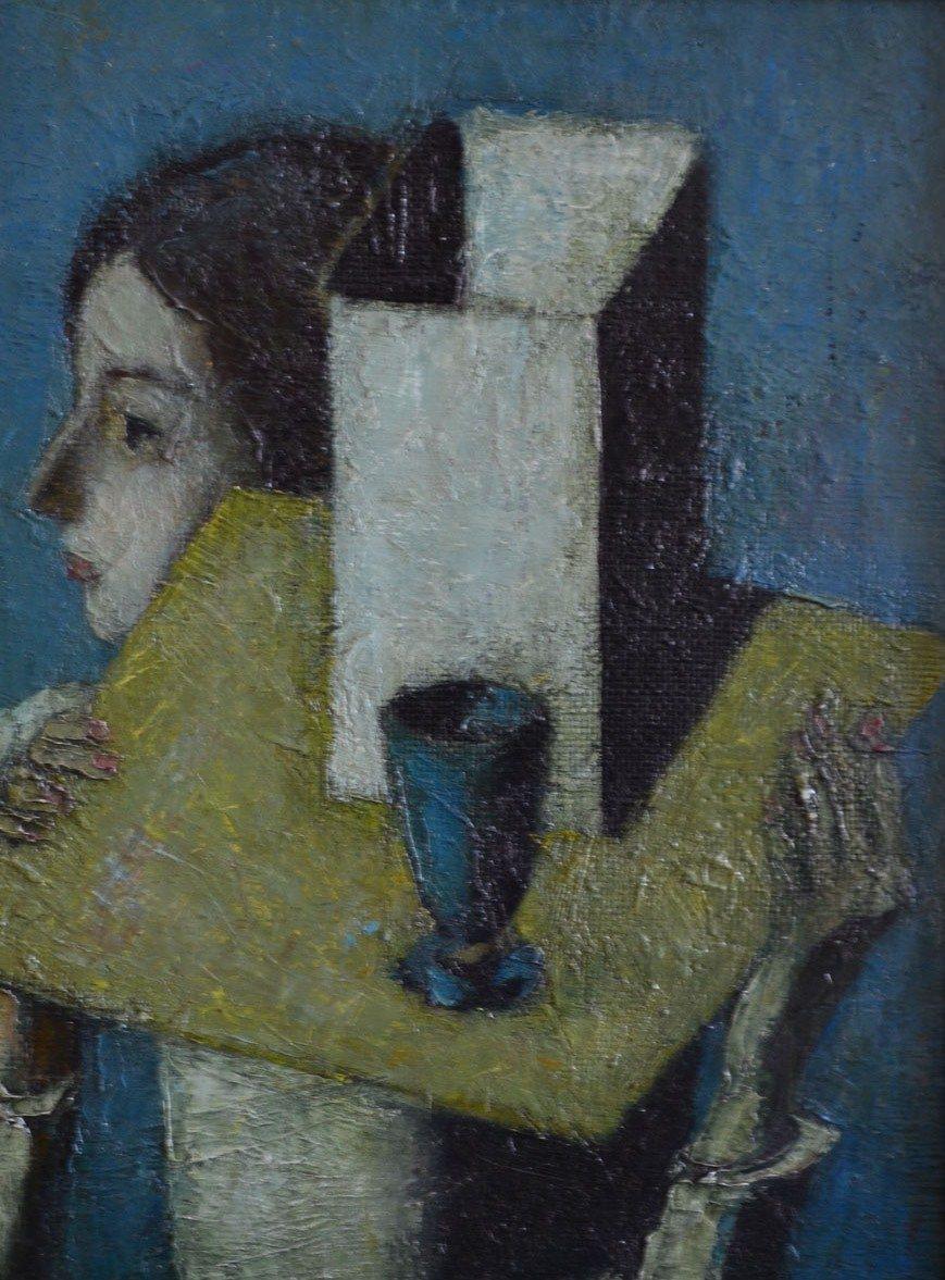 А.Кузнецов. Натюрморт с синей рюмкой