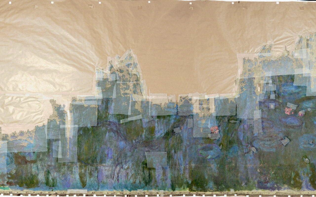 Клод Моне – Водяные лилии: отражение ивы (1916)