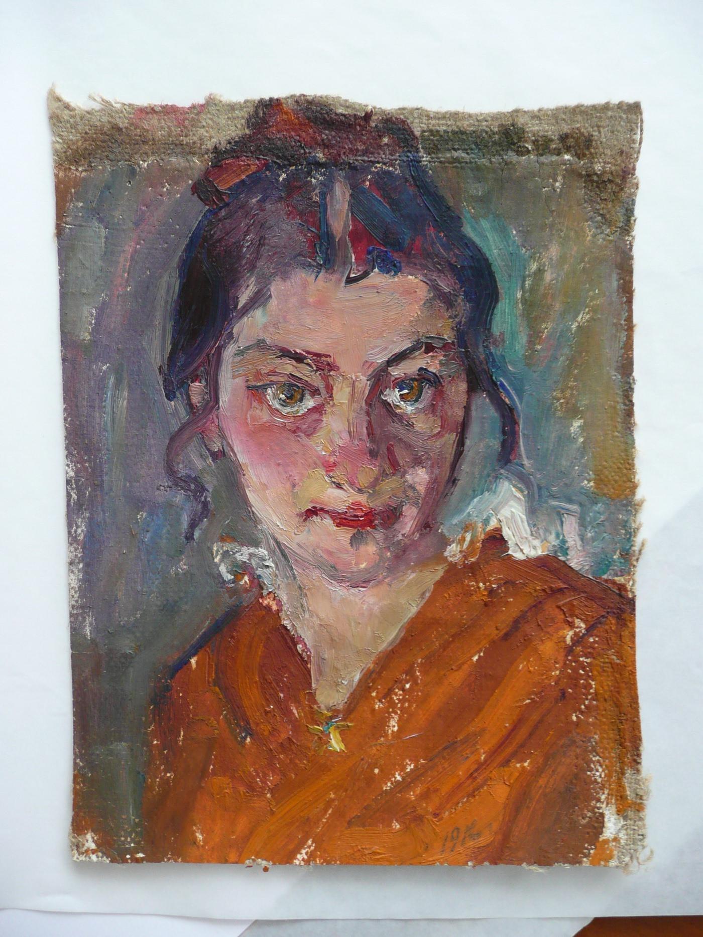 Вера Вильковиская. Автопортрет. 1916