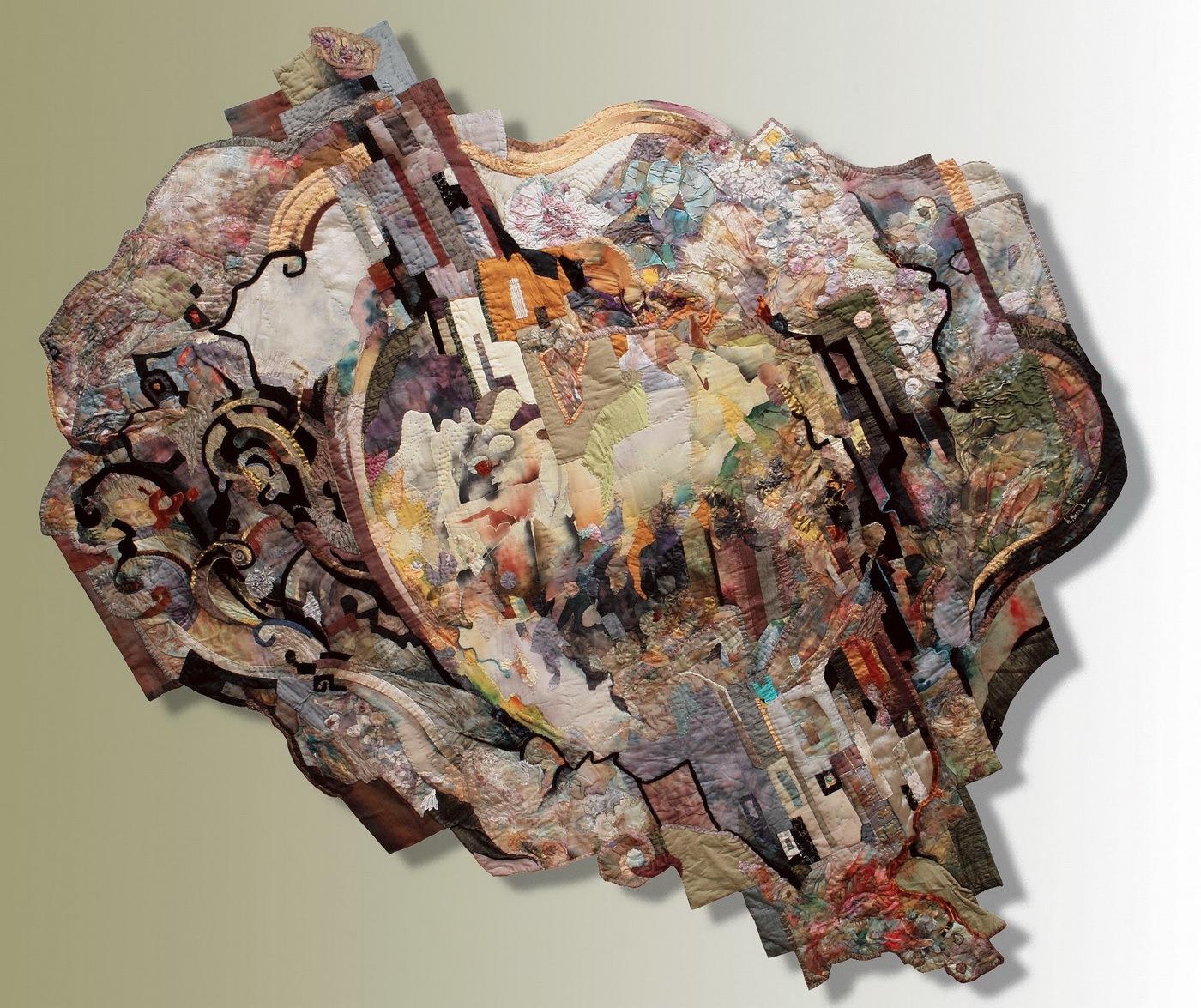 Н. Мурадова. Текстильное панно Роман будет прочитан. 250х270 см. 2004 год. Авторская техника