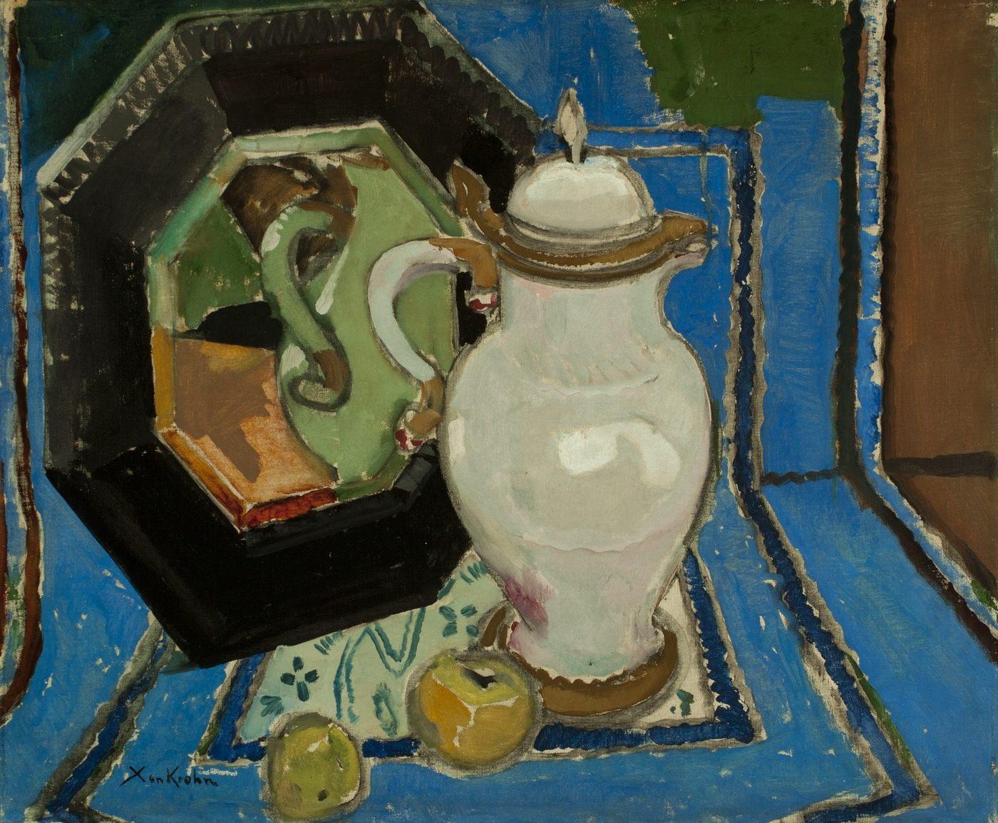 Ксан Крон. Натюрморт с кувшином, 65х79, 1920-е, холст, масло