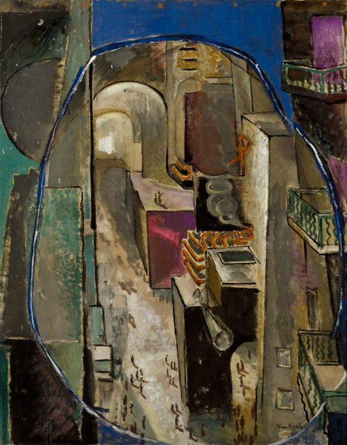 Ксан Крон. Улица, 81,5х63, 1920-е, холст, масло