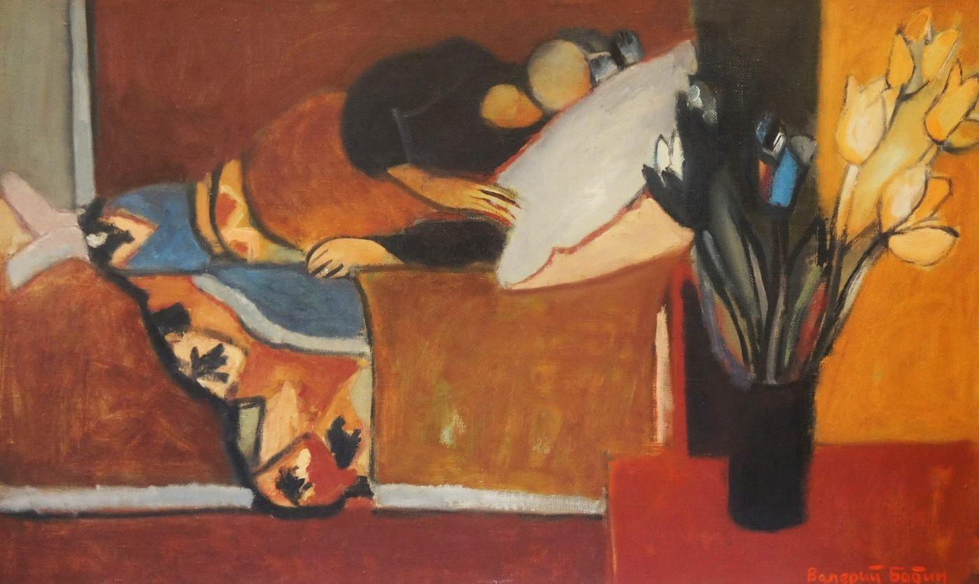 Валерий Бабин. Сон садовницы. 2001. Холст, масло, 60х100