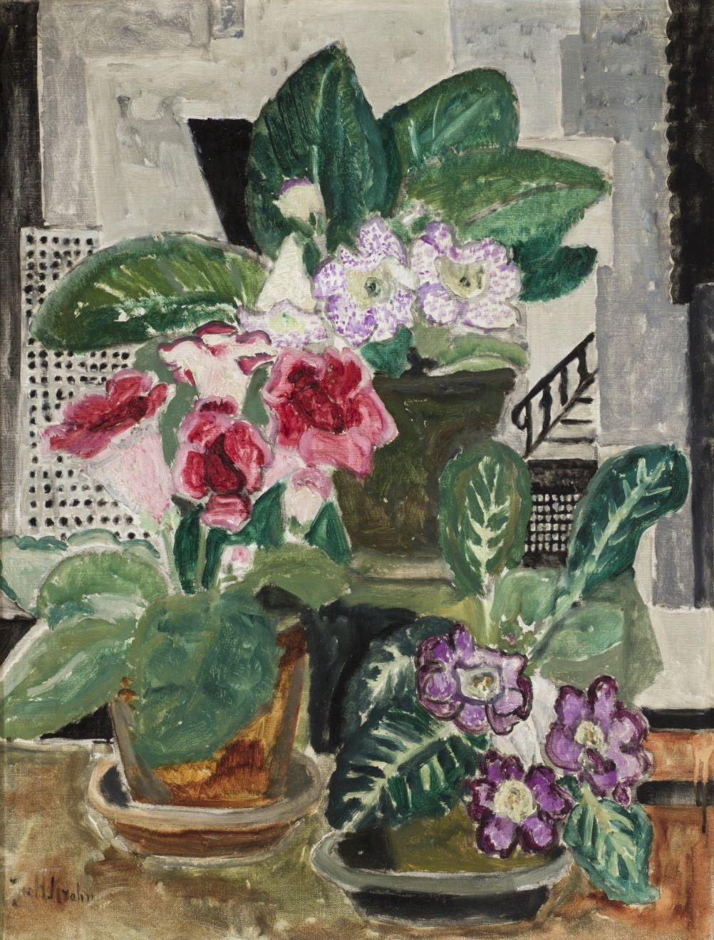 Юлия Крон. Фиалки, 83х60, 1910-20, холст, масло