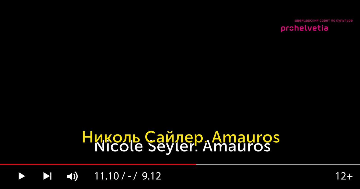 "Video installation Nicole Cyler ""Amauros"""