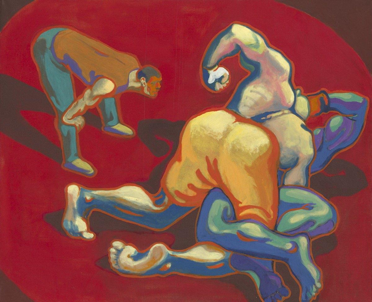 Михаил Гавричков. Верхом. 1999. холст, масло. 40х60 см