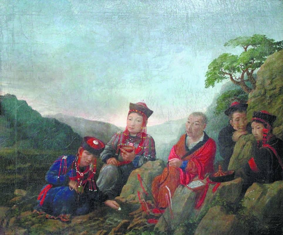 Прокопий Рязанцев. Буряты у ручья. 1879. Холст, масло