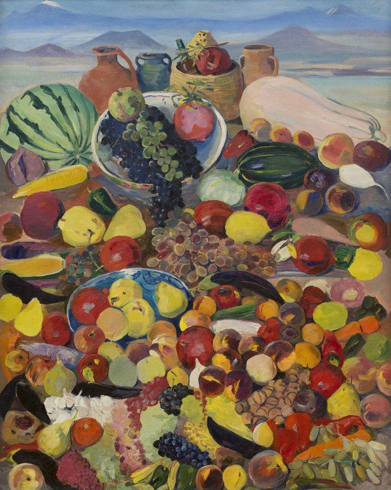 Мартирос Сарьян. Плоды каменистых склонов Арагаца. 1958