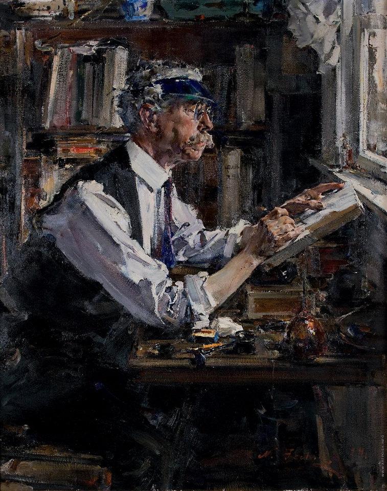Фешин Н.И. Портрет гравера У.Д. Уотта (1924, холст, масло, 127х101,6 см). Частное собрание, Москва