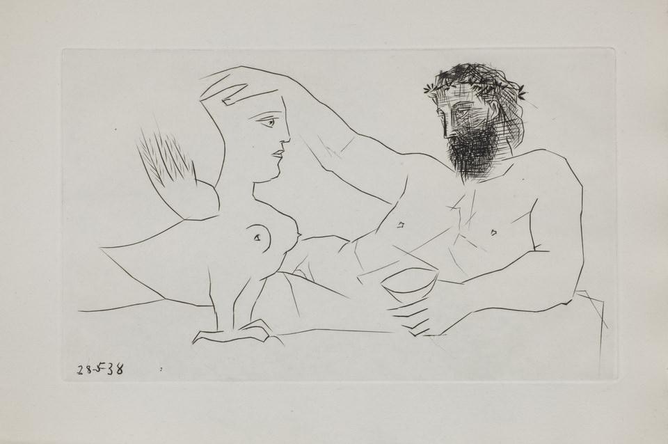 Пабло Пикассо. Сухая игла. Иллюстрация к изданию Ильязда Afat. 1940
