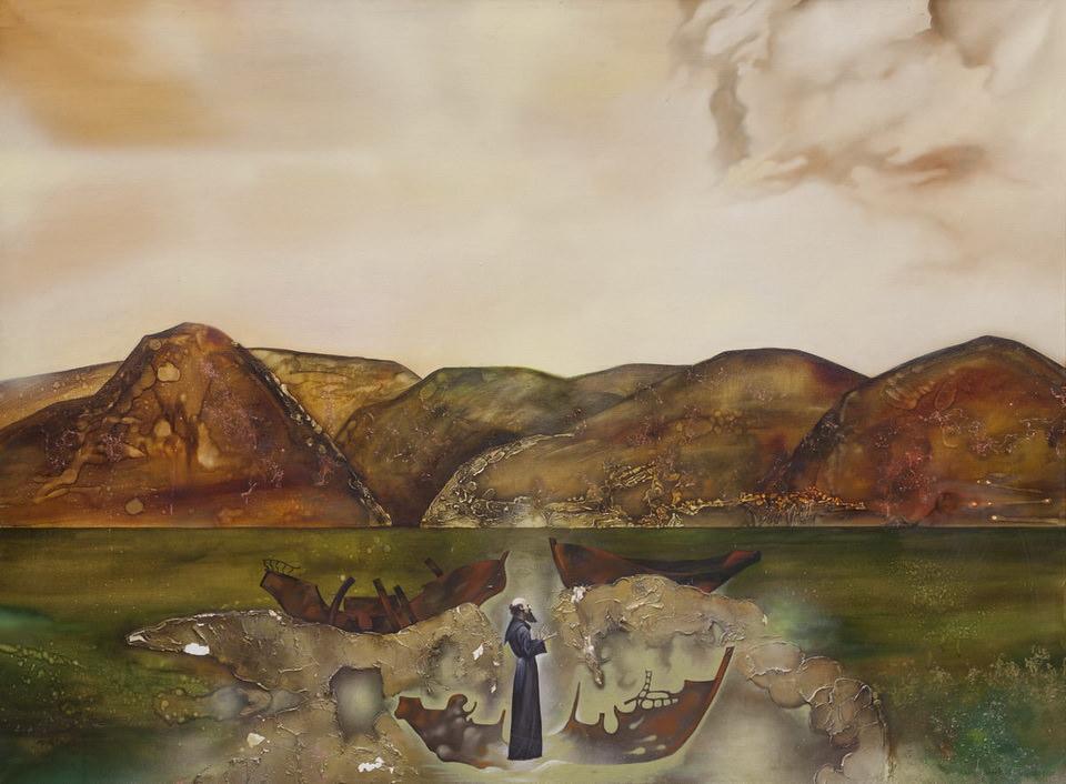 Валерий Мошкин. Астральная проекция. Познание хаоса. 2002. Холст, масло