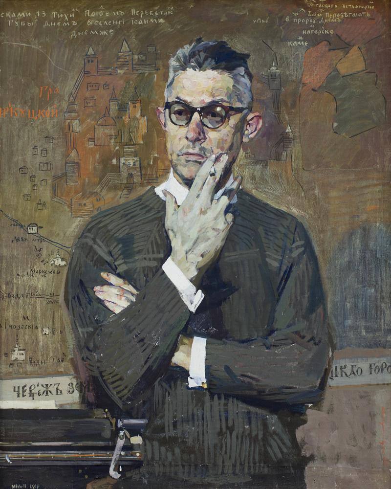 Вычугжанин Аркадий Иванович (20.12.1929–1984). Портрет историка Г. А. Вендриха. 1966. Холст, темпера. 105 × 84