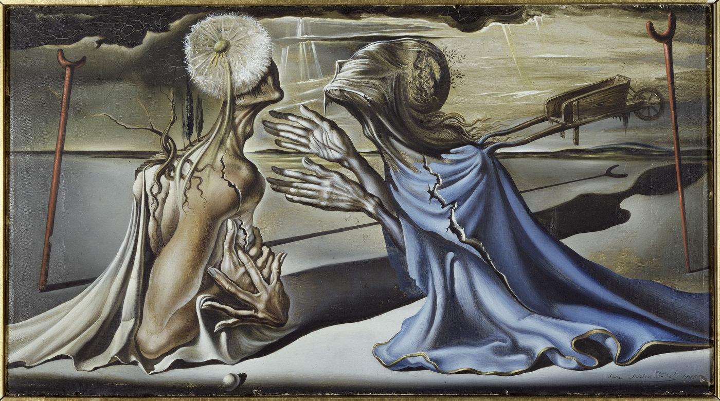 Безумный Тристан. 1944. Холст, масло. 26,5 x 48,5 см. Фонд «Гала – Сальвадор Дали»