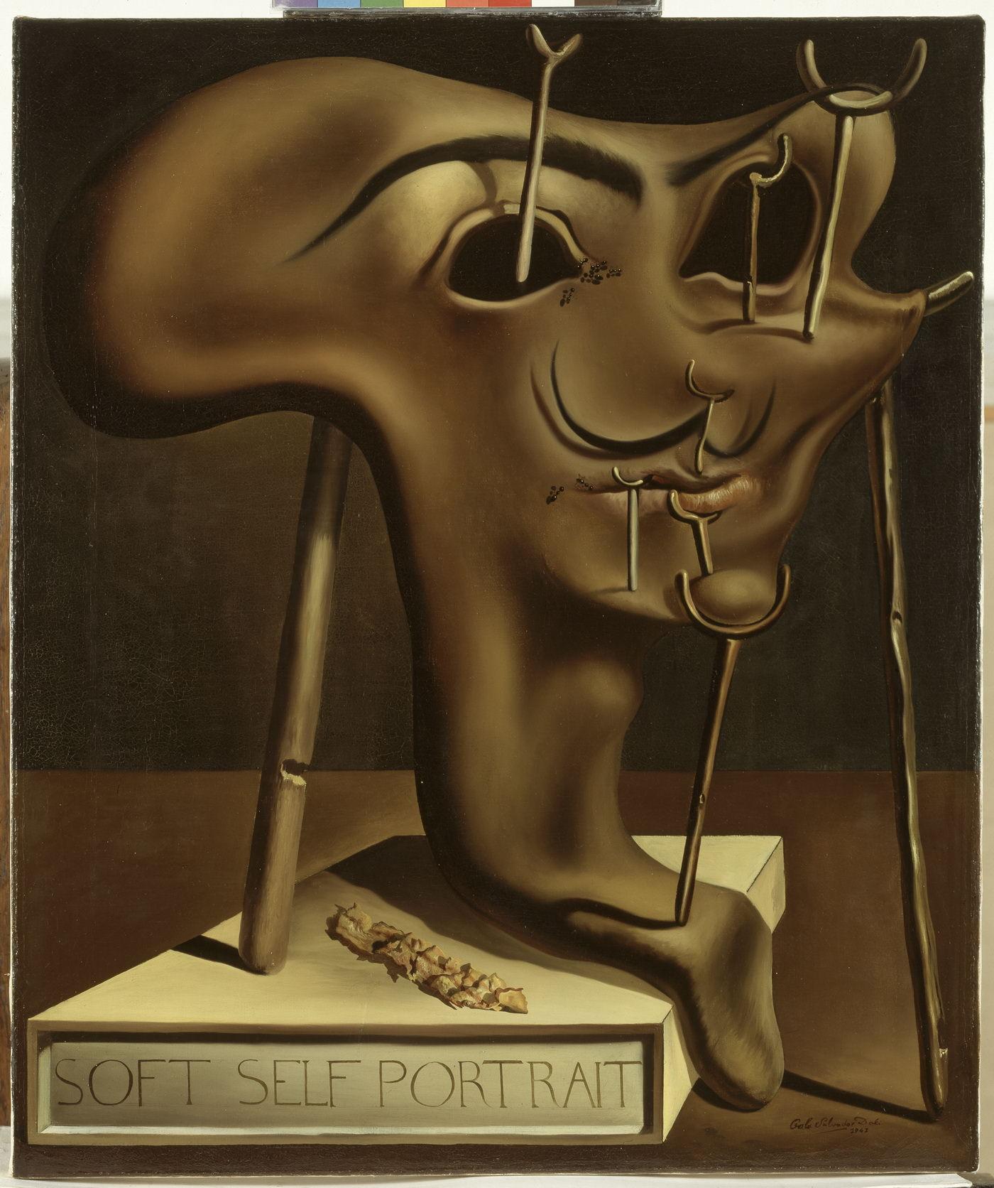 Мягкий автопортрет с жареным беконом. 1941. Холст, масло. 61 х 51 см. Фонд «Гала – Сальвадор Дали»