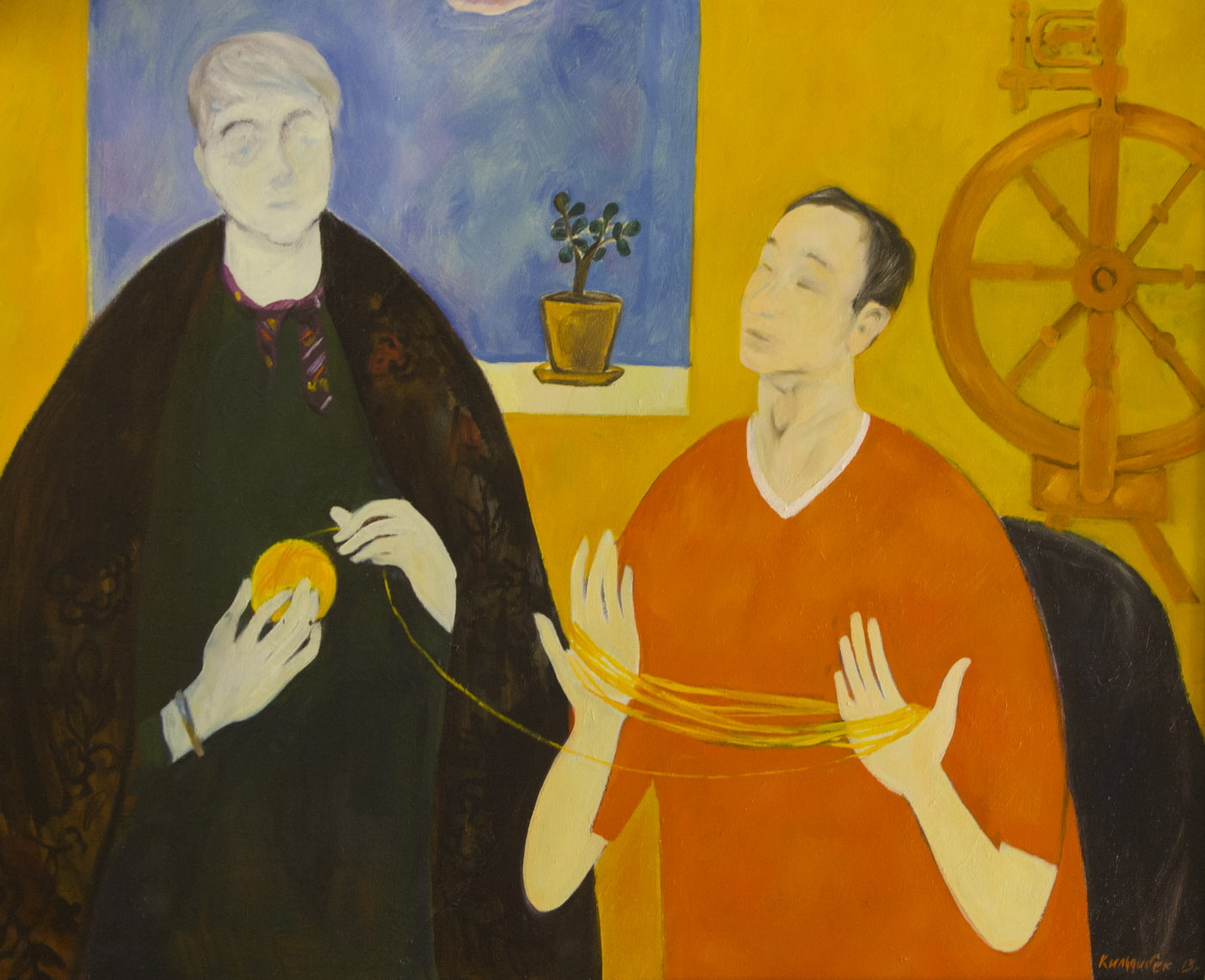 Кильдибеков Р.А. «Вдвоем» (Автопортрет с супругой). Собрание ГМИИ РТ