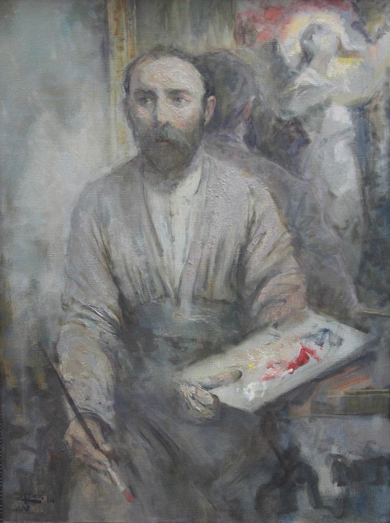 Калманов А.Б., Коста и Скорбящий ангел, х.м. 100-75, 2014г.