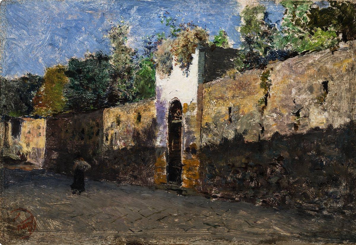 Мариано Фортуни. Улица Гранателло в Портичи. 1874. Коллекция Вида Муньона. Альмерия