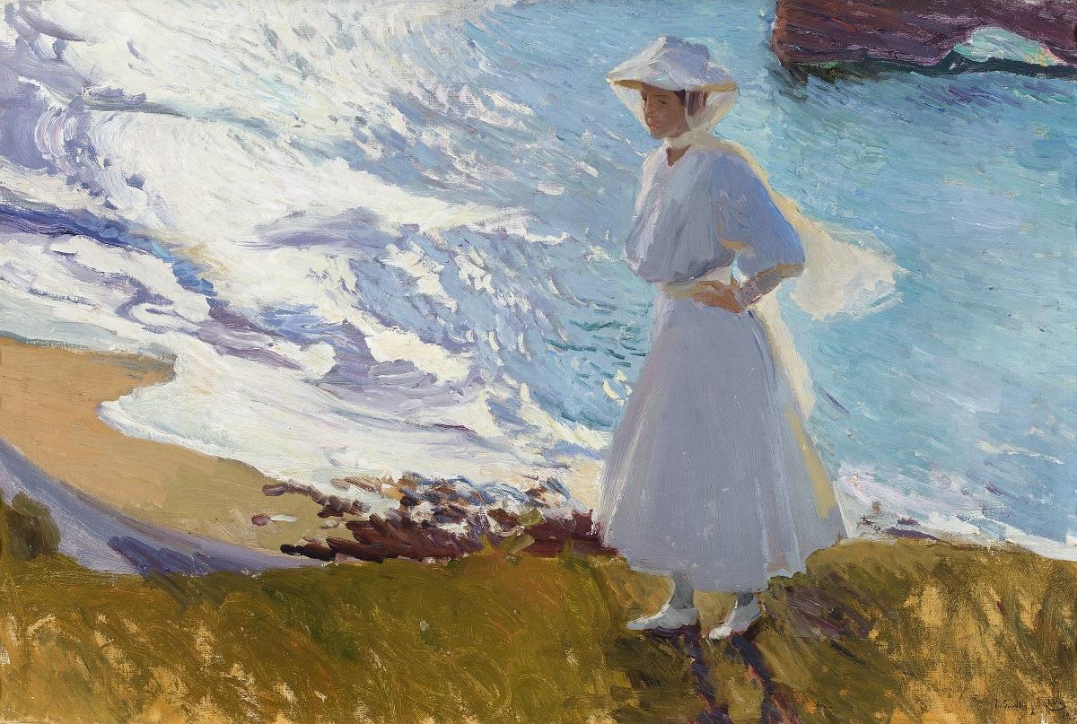 Хоакин Соролья. Мария на пляже Биаррица. 1908. Музей Сорольи, Мадрид