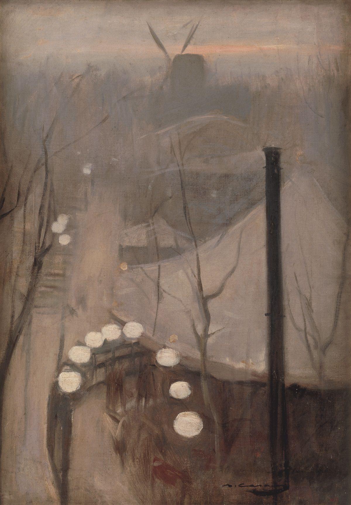 Рамон Касас. Монмартр. ок. 1890-1891. Библиотека-музей Виктора Балагера, Виланова-и-ла-Жельтру