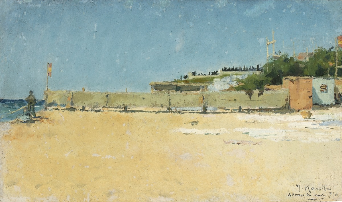 Исидре Нонель. Пляж Аренис. 1891. Коллекция Соланик-Марторелл, Барселона