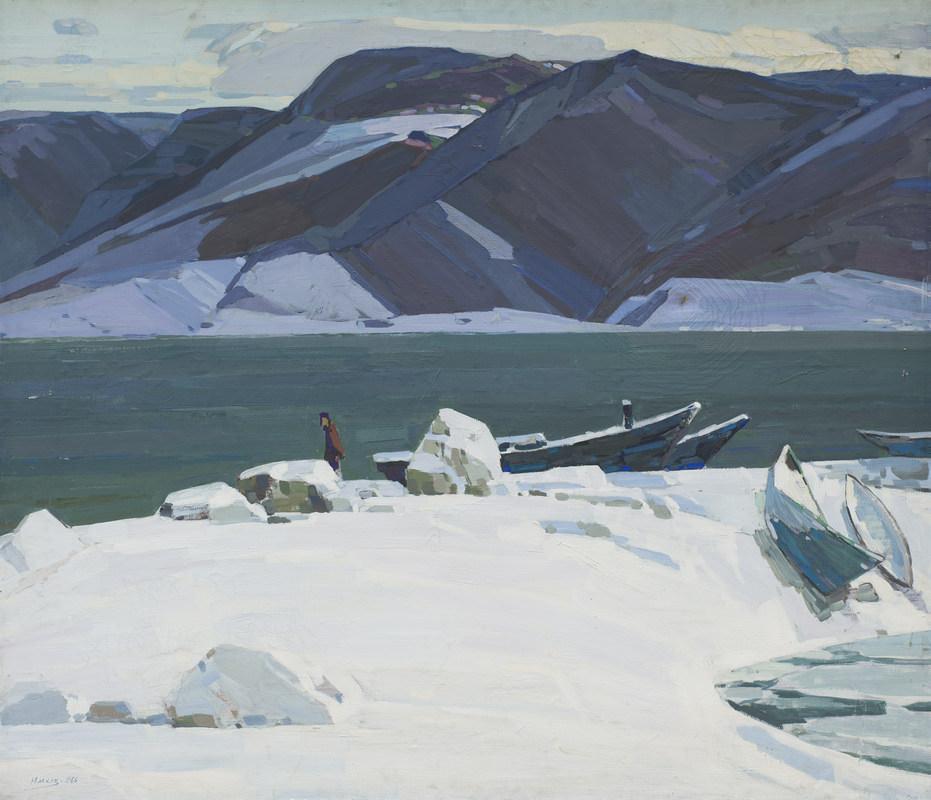 Иван Юшков. Зима на Байкале. 1966