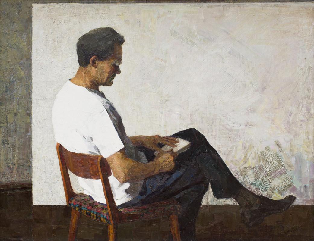 Анна Юшкова. Портрет художника И.Е. Юшкова. 1969
